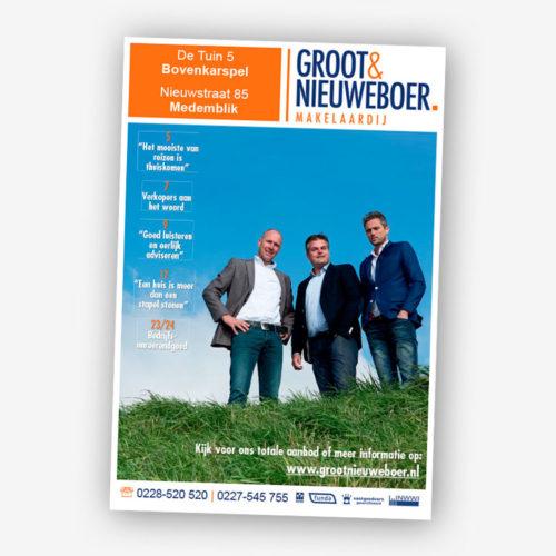 Groot & Nieuweboer, Makelaarskrant, JoostintheHouse, Wervershoof, Grafisch Design, offline, online
